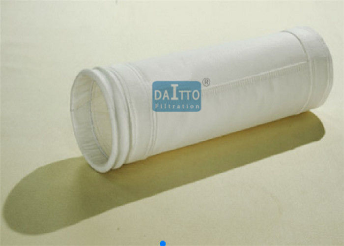 120 - 300mm Diameter Industrial Filter Bags Polyester / Acrylic Needle Felt