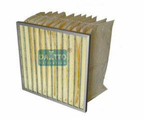 Glass Fiber Bag Air Filters High Strength Aluminum Frame Good Permeability