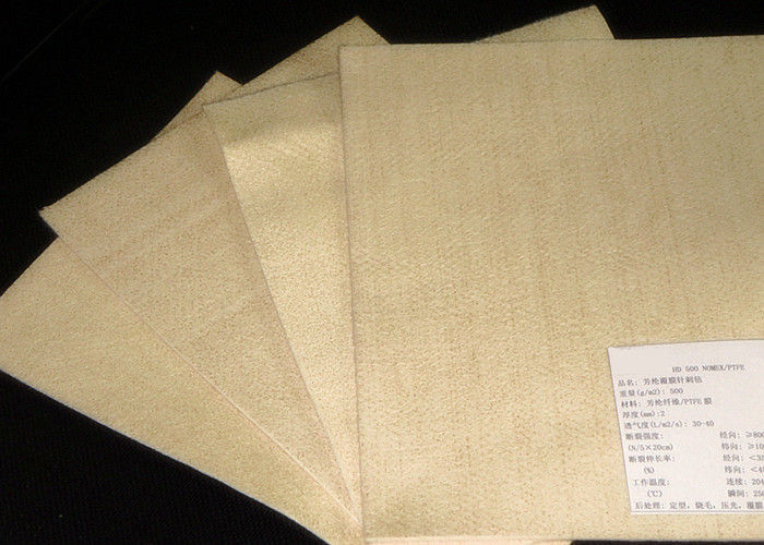 Micron Aramid Industrial Filter Cloth For Cement Industry ISO Certificated