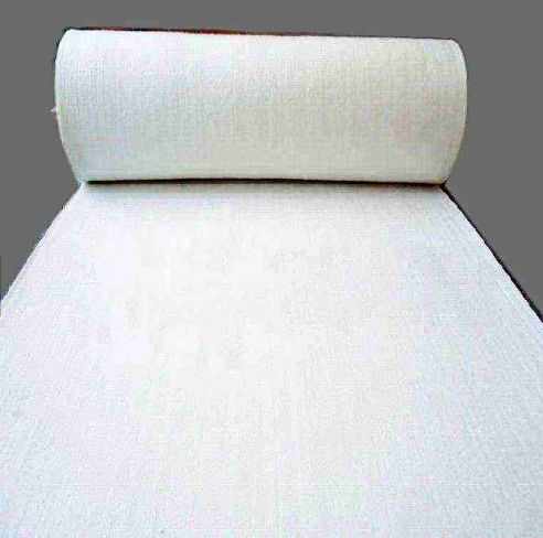 Mineral Processing Polyester Needle Felt / Anti Static Filter Cloth White Color